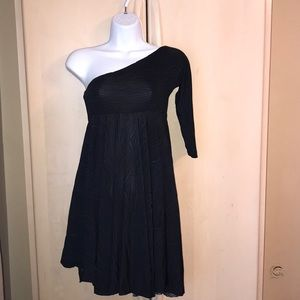 Dress, one shoulder , full skirt